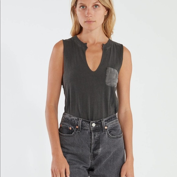 Free people In Your Pocket Distressed Bodysuit